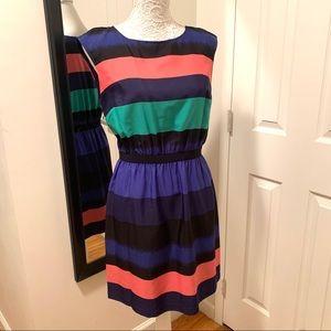 Loft Colorful Striped Dress